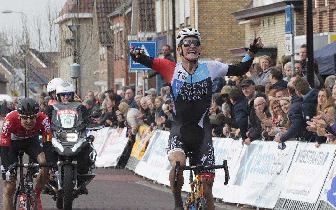 Mikkel Bjerg triomfeert in Rabobank Dorpenomloop Rucphen